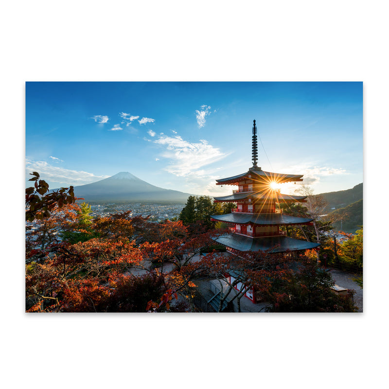 Arakura Sengen Shrine Japan Metal Art Print