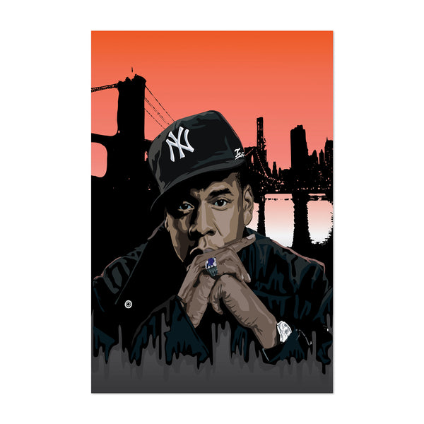 Jay-Z Portrait Rap Music Hip Hop Art Print