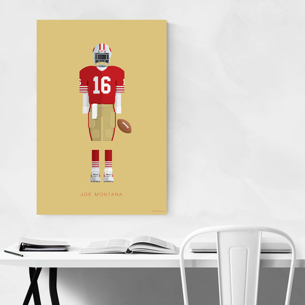 Joe Montana Football Illustration Art Print