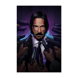 John Wick Keanu Reeves Movie Art Print