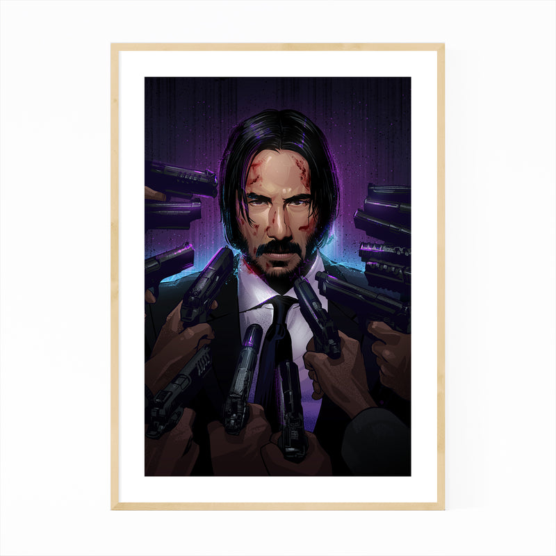 John Wick Keanu Reeves Movie Framed Art Print