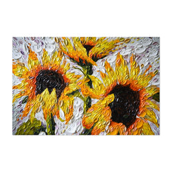 Sunflowers Nature Oil Painting Art Print
