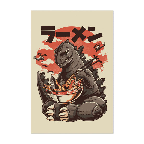 Kitchen Ramen Illustration Art Print
