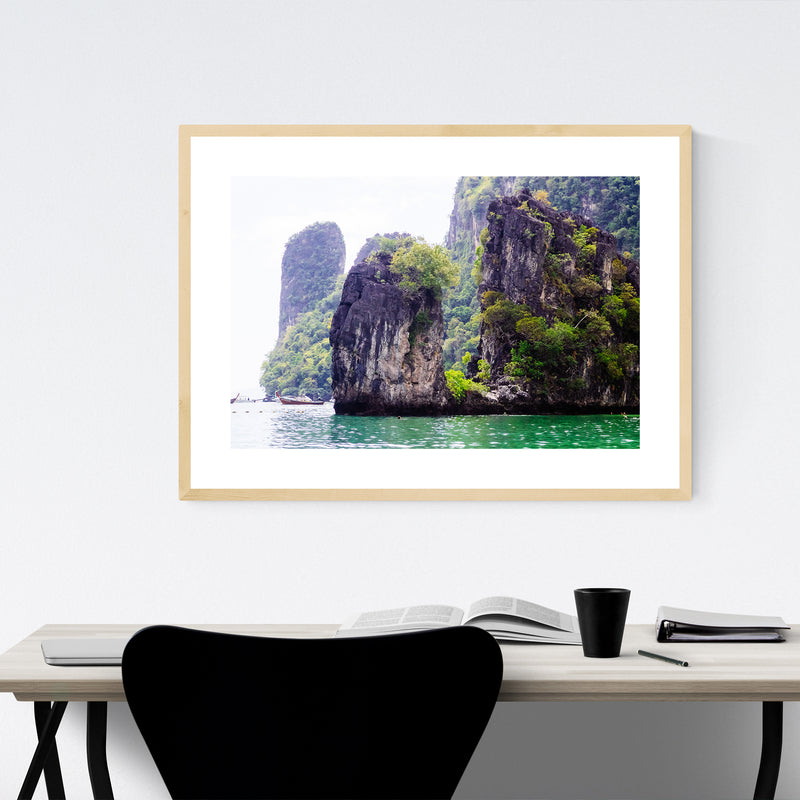 Ko Lanta Thailand Beach Photo Framed Art Print