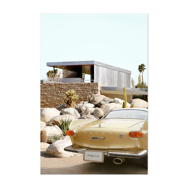Kaufmann House Car Palm Springs Art Print