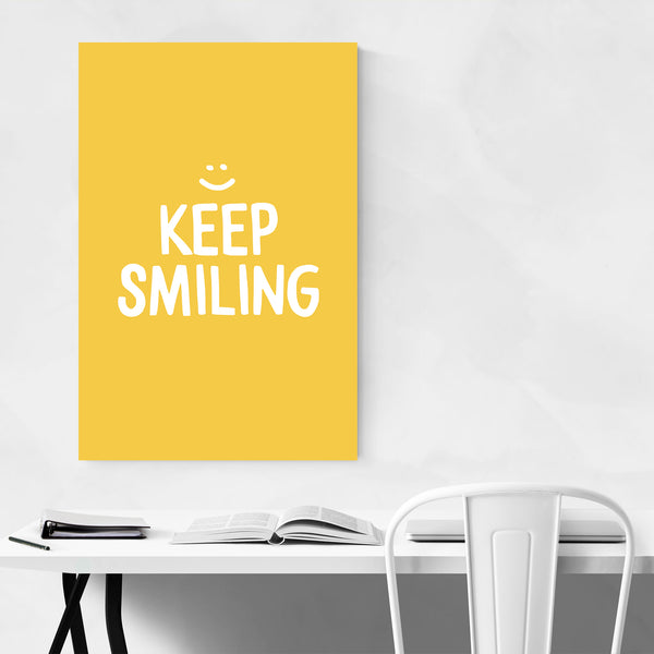 Happiness Inspirational Quote Art Print
