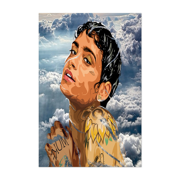 Kehlani Portrait Music Figurative Art Print