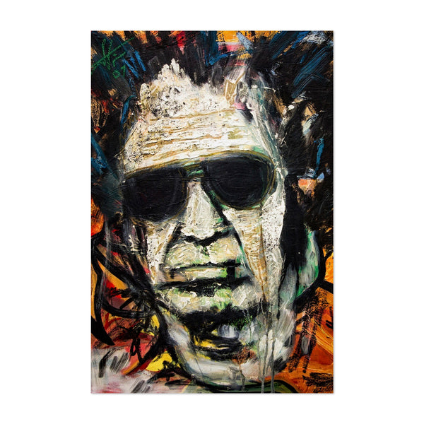 Keith Richards Rolling Stones Portriat Art Print