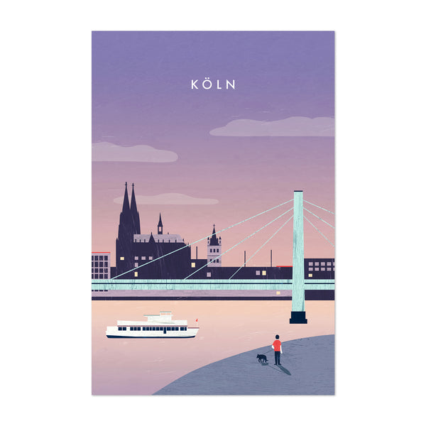 Cologne Germany Vintage Travel Art Print