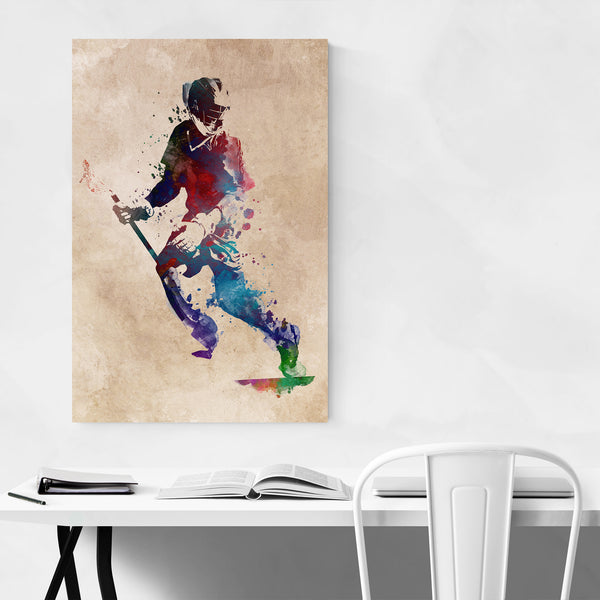 Lacrosse Player Gift Sports Art Print