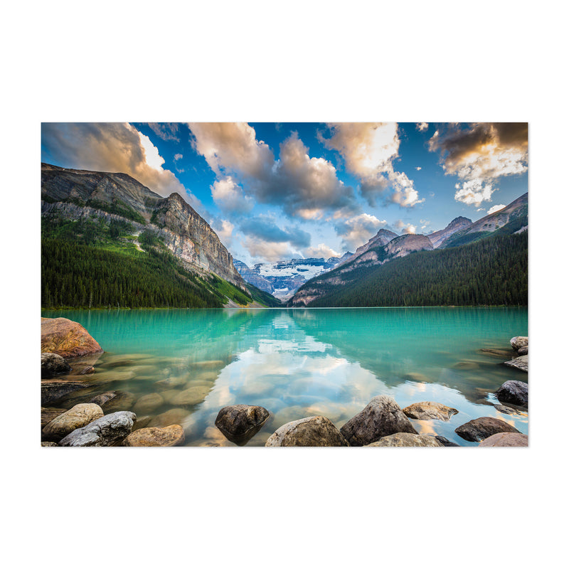 Lake Louise Sunset Canada Alberta Art Print