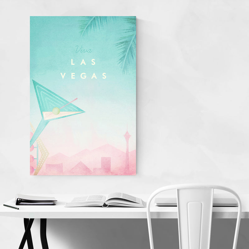 Las Vegas Retro Travel Poster Art Print