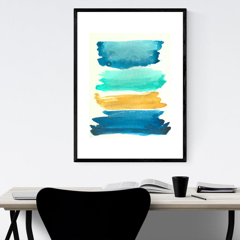 Abstract Color Swatch Painting Framed Art Print