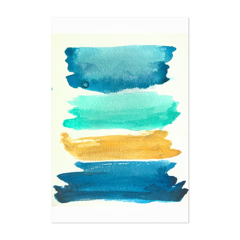 Abstract Color Swatch Painting Art Print