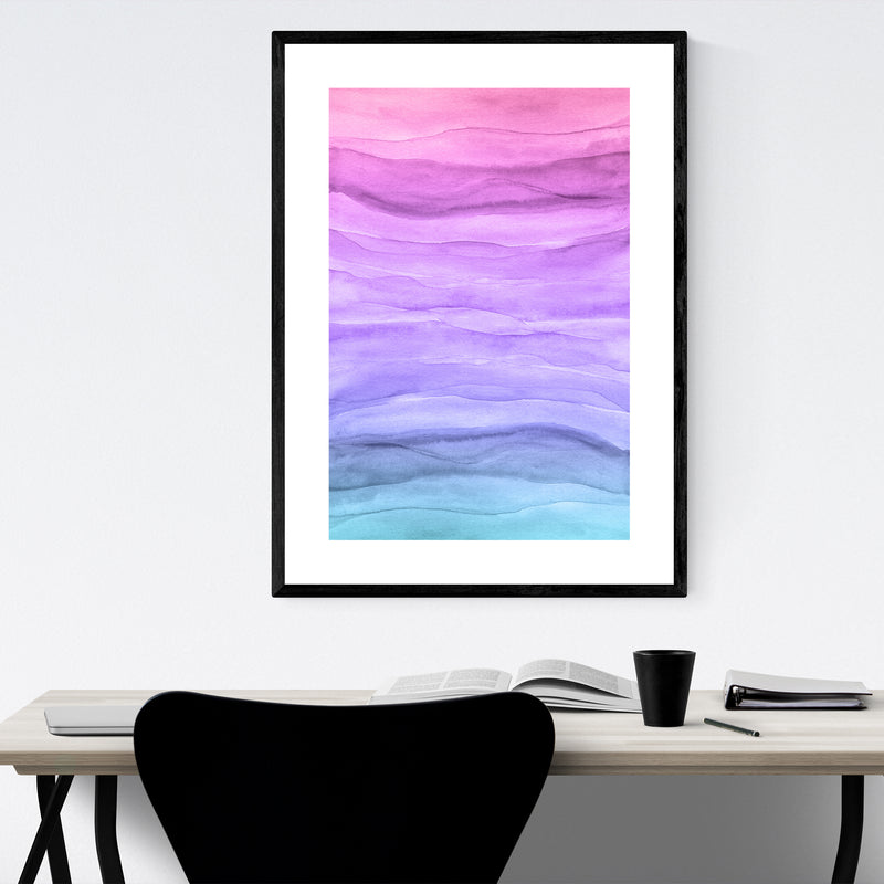 Abstract Watercolor Painting Framed Art Print