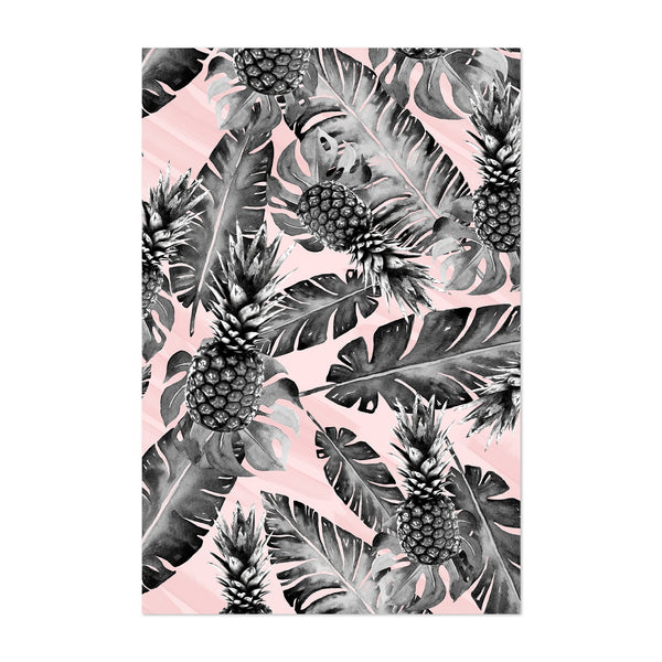 Tropical Pineapples Pattern Art Print