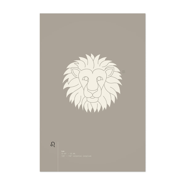 Leo Star Sign Astrology Minimal Art Print