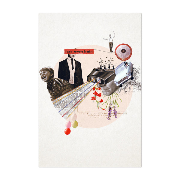 Vintage Collage Humor Funny Art Print