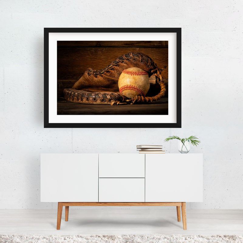 Baseball Sports Photo Framed Art Print