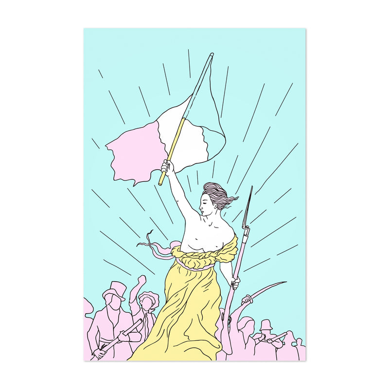 Liberty Leading The People Pop Art Print