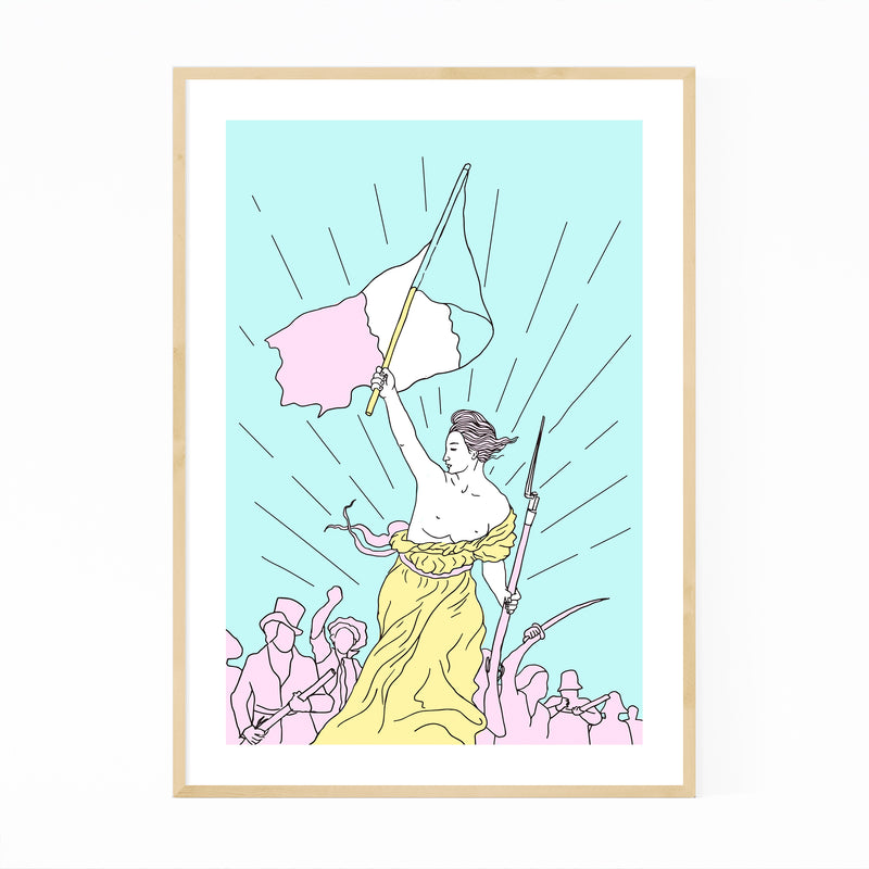 Liberty Leading The People Pop Framed Art Print