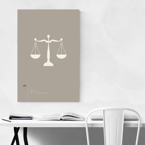 Libra Star Sign Astrology Minimal Art Print
