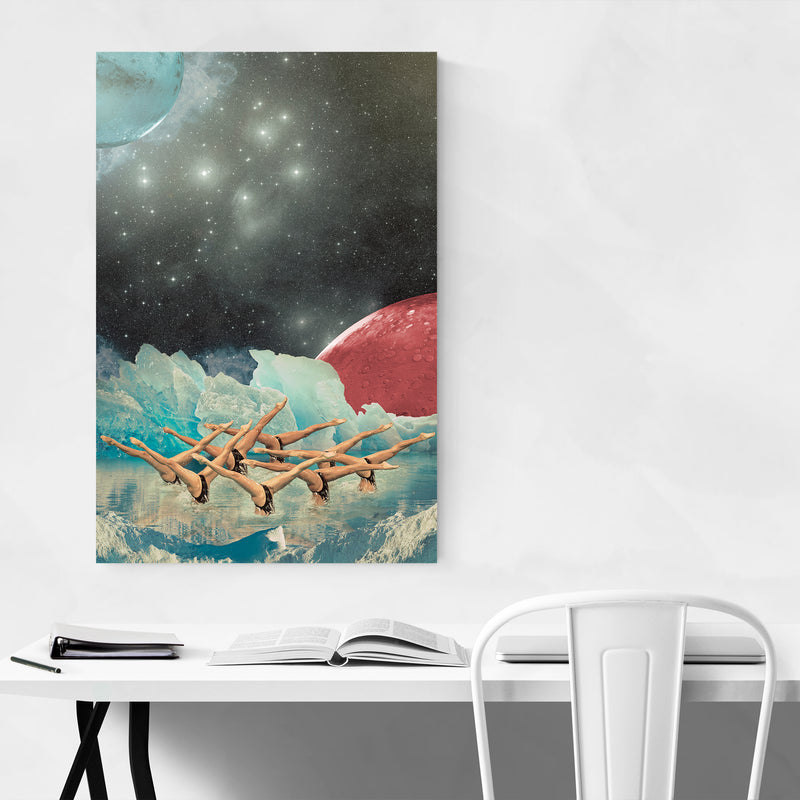Abstract Space Astronomy Collage Art Print