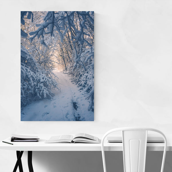 Winter Snow Tuscany Italy Art Print