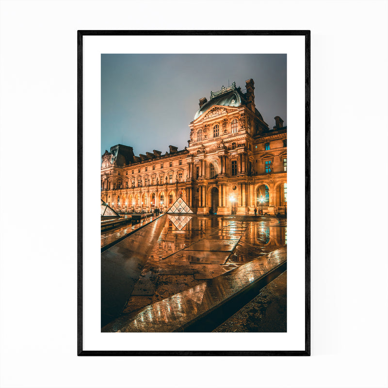 Paris France Louvre Museum Photo Framed Art Print
