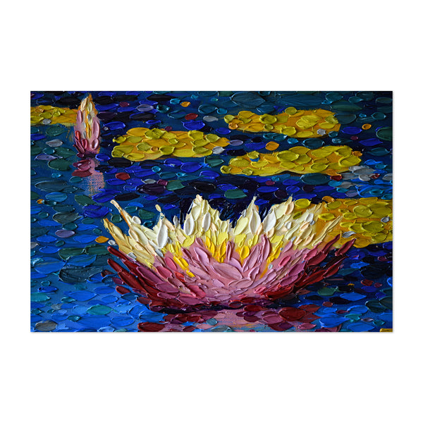 Lily Pads Floral Nature Painting Art Print