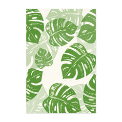 Linocut Floral Botanical Monstera Art Print