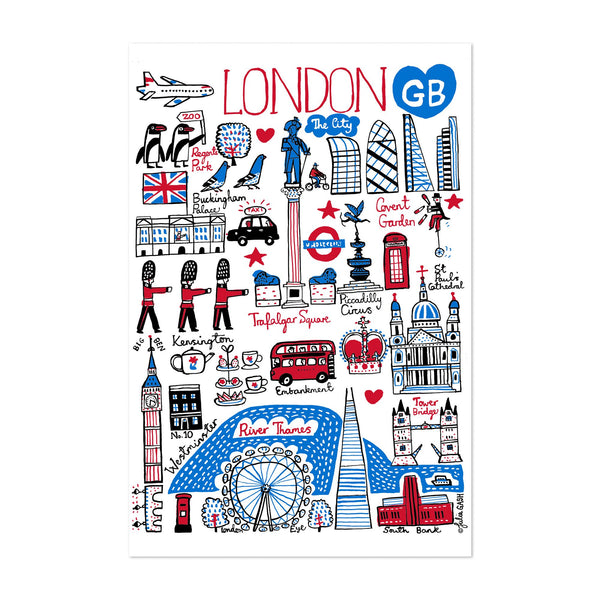 London Travel Poster Art Print