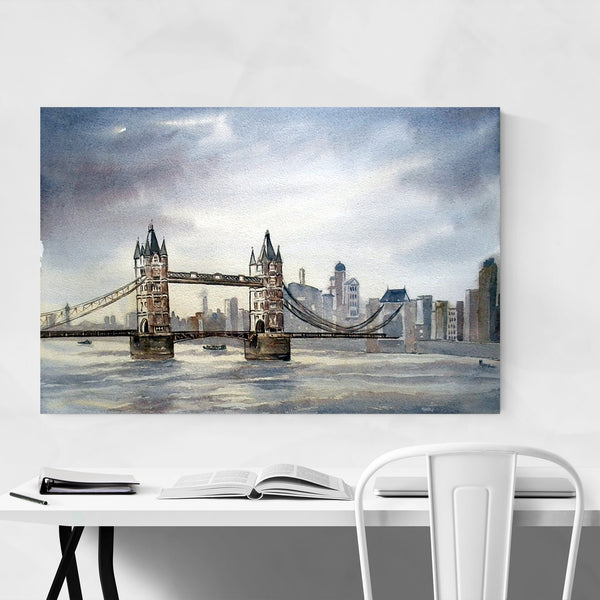 London Tower Bridge Painting Art Print