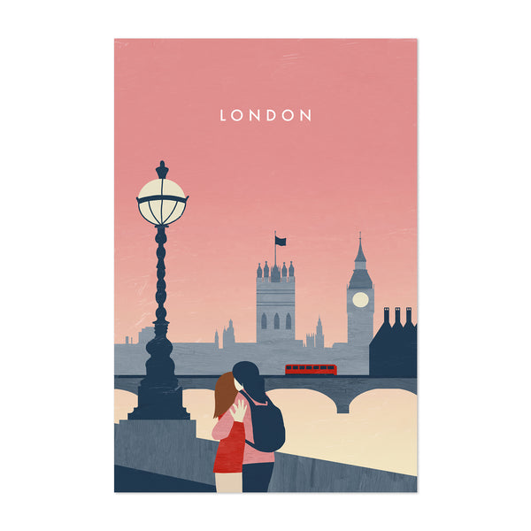 London United Kingdom Vintage Travel Art Print