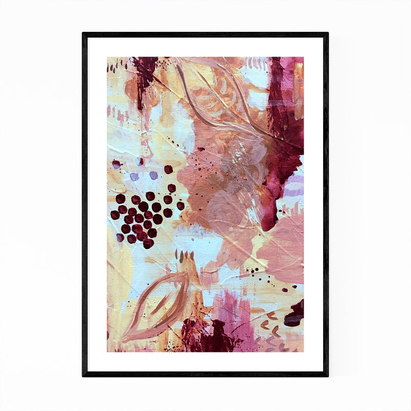 Abstract Pastel Modern Painting Framed Art Print