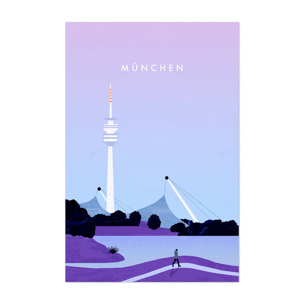 Munich Germany Vintage Travel Art Print