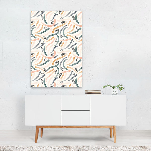 Brush Strokes Pattern Painting Art Print