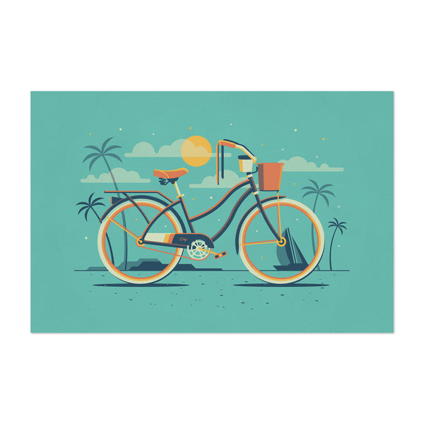 Beach Cruiser Bicycle Palm Trees Art Print