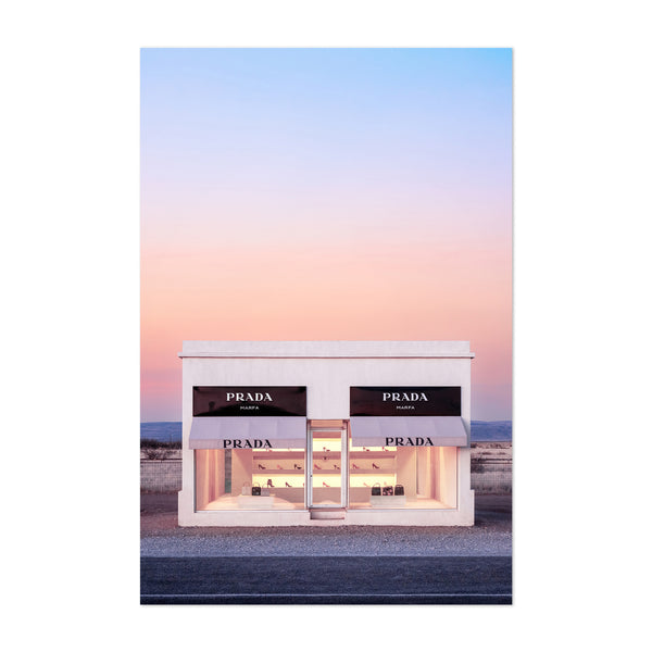 Prada Marfa Fashion Desert Art Print