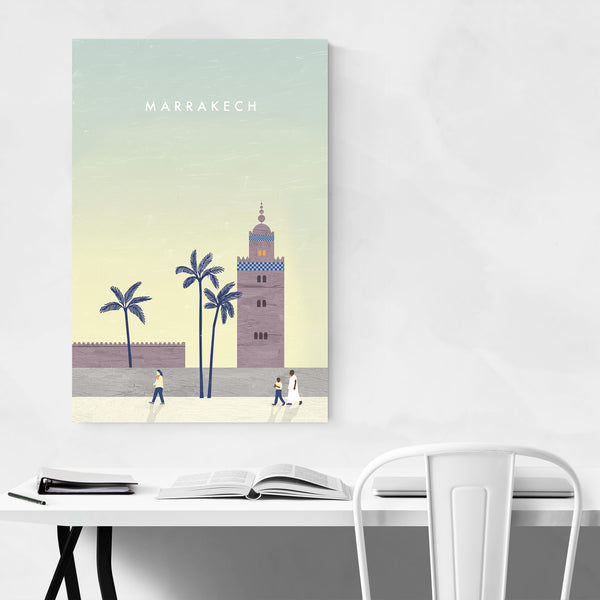 Marrakech Morocco Vintage Travel Art Print