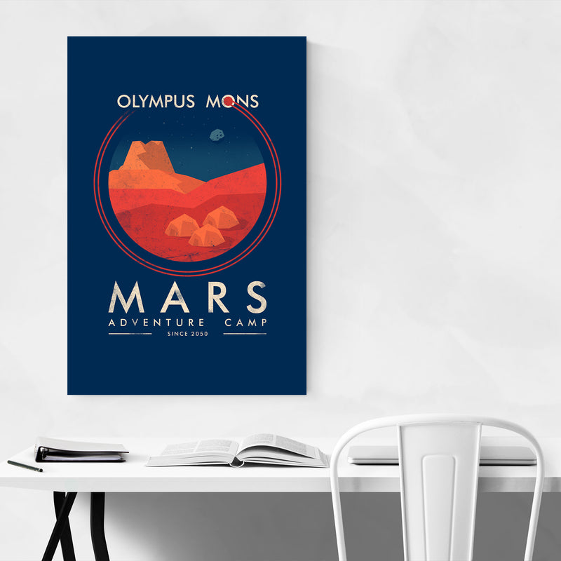 Mars Space Astronomy Retro Art Print