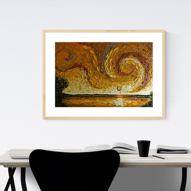 Nature Abstract Landscape Painting Framed Art Print