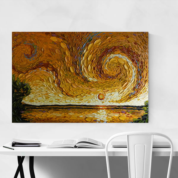 Nature Abstract Landscape Painting Art Print