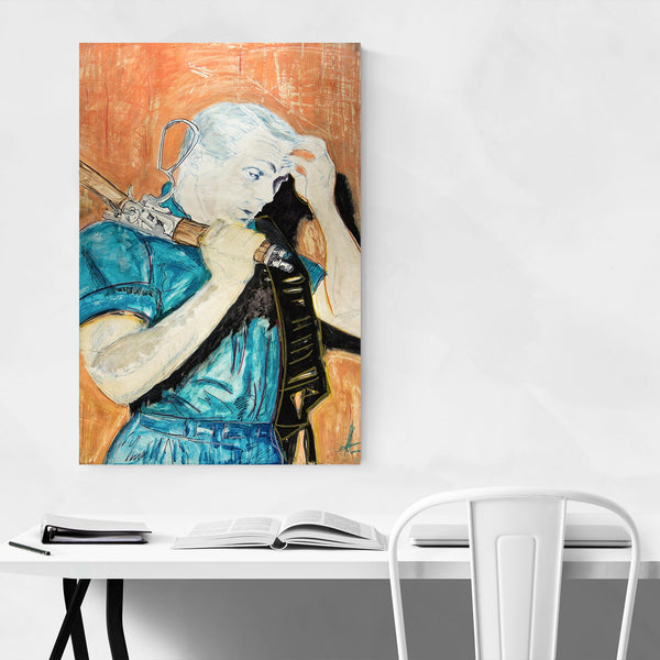 Steve McQueen TV Movies Portriat Art Print
