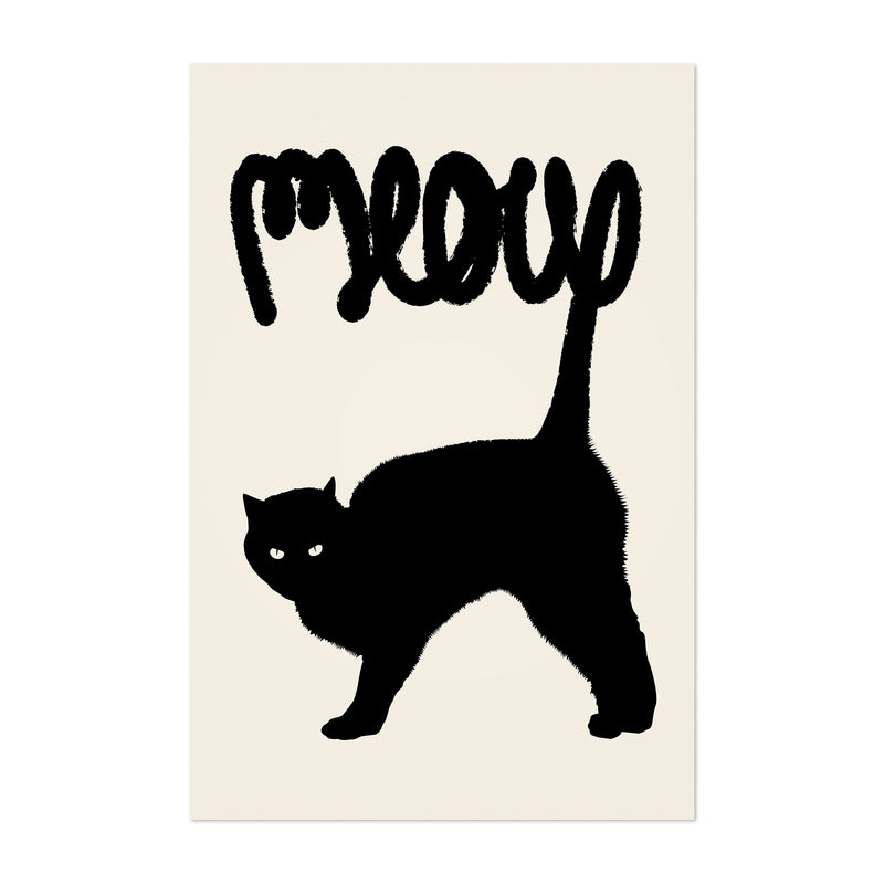 Cat Meow Funny Animal Pets Art Print