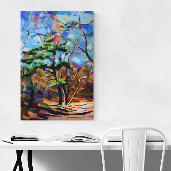 Colorful Nature Abstract Drawing Art Print