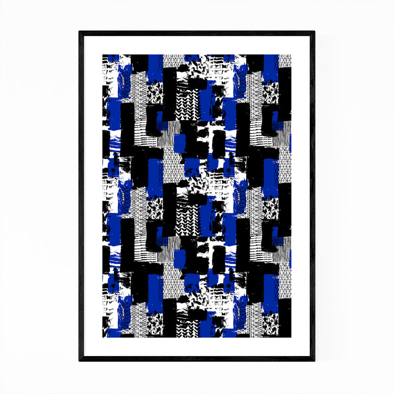 Abstract Brush Strokes Pattern Framed Art Print