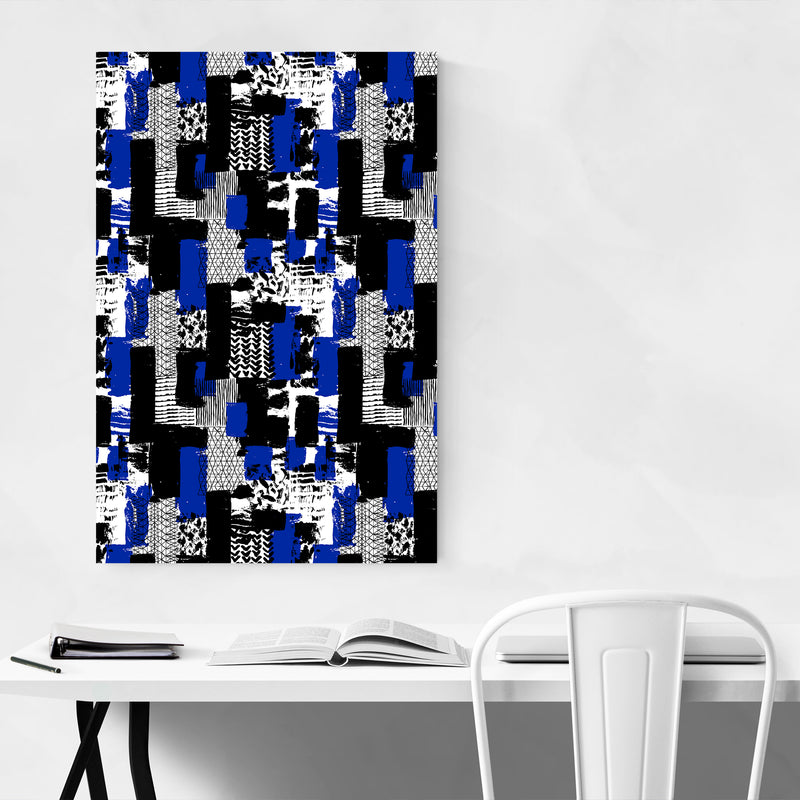 Abstract Brush Strokes Pattern Art Print