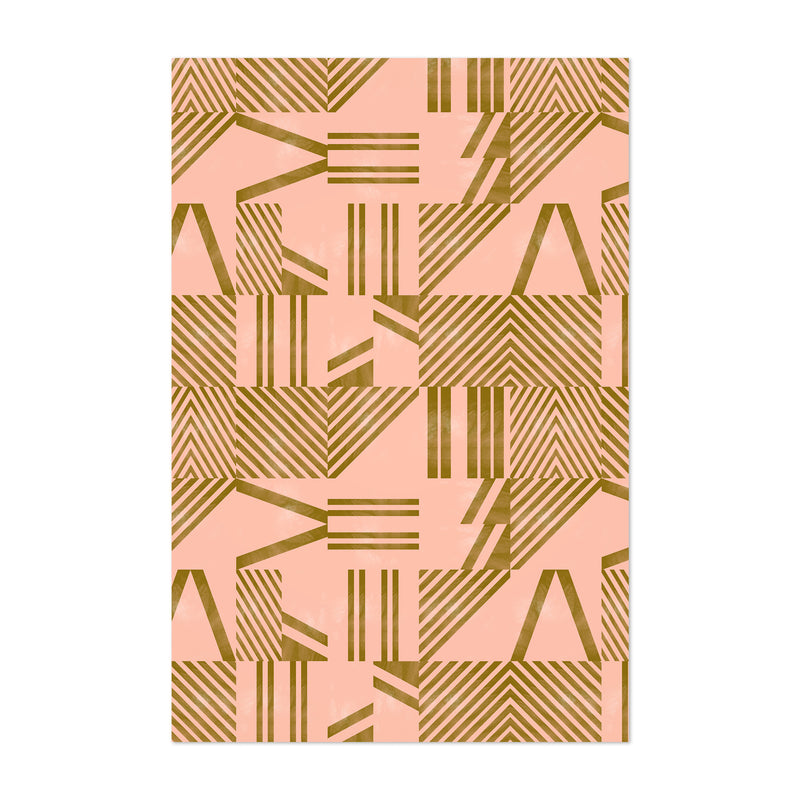 Modern Abstract Geometric Lines Art Print
