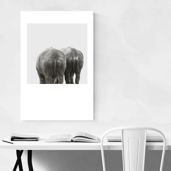Minimal Rhino Animal Pastel Art Print